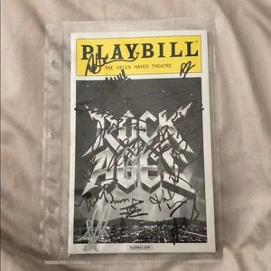 Other - Signed 'Rock of Ages' playbill